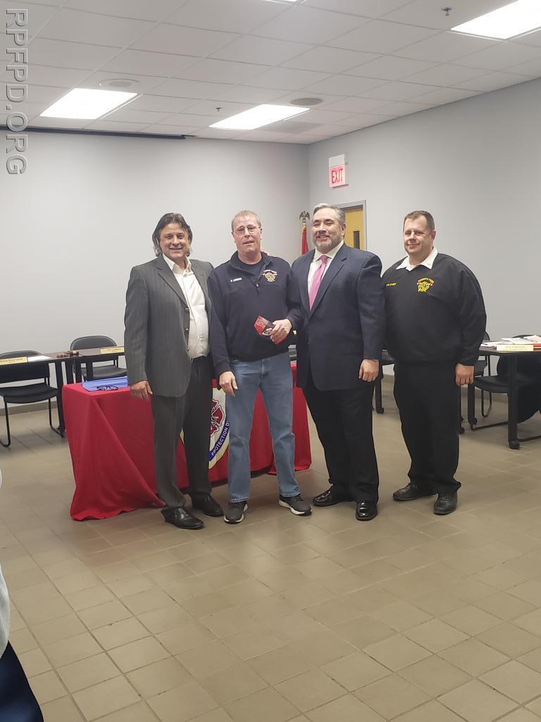 Pictured L-R:  Trustee Steve Stratakos, Trustee Patrick Lorenz, Trustee Brian A. Bernardoni.